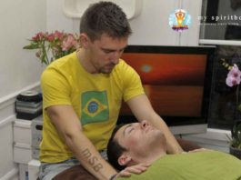 Reiki Healing Session On a Massage Table